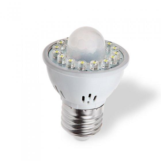 LED-lampe med bevegelsessensor