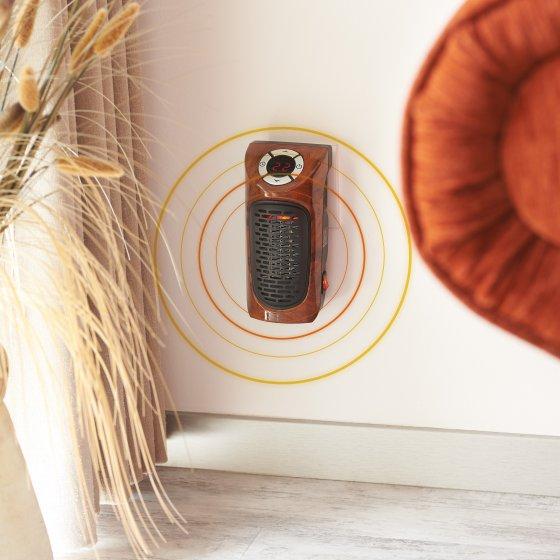 Stikkontakt-varmeapparat i tre-look