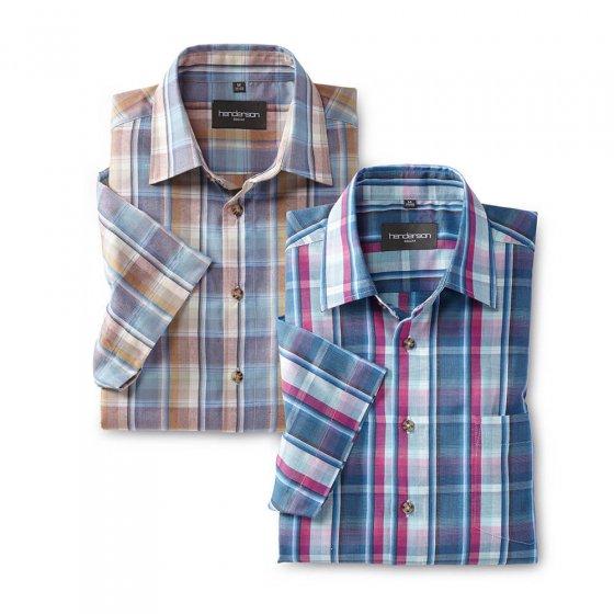 Lettstelt madras-skjorte 2-pakning