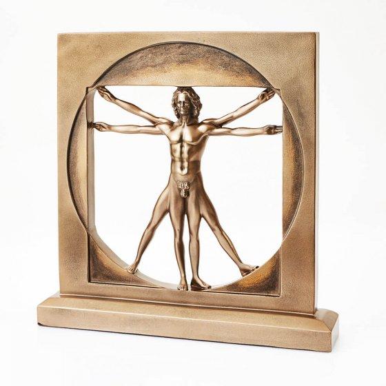 """Bronse-statue  """"Vitruvianer"""""""
