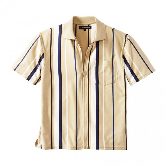 Jersey-skjorte med glidelås
