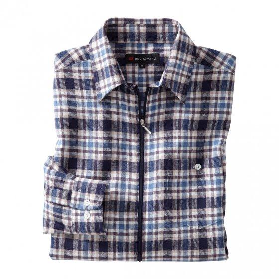 Flanellskjorte med glidelås