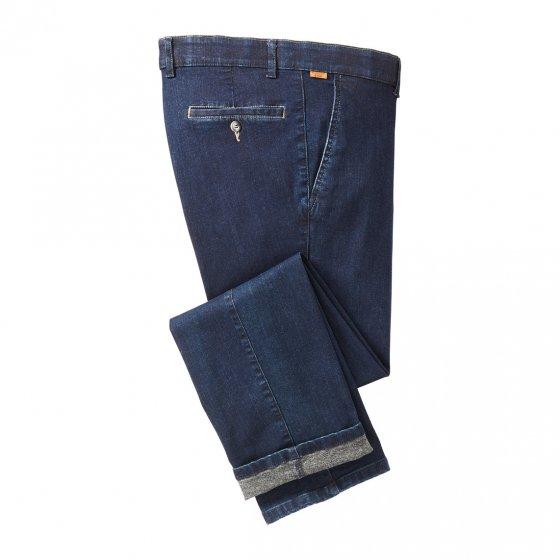 Jeans med flosset innside