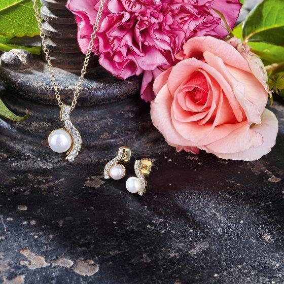 Smykkesett i 3 deler «Perle»